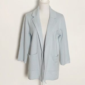 J, CREW-Merino Wool/Cotton Blazer. Size Small